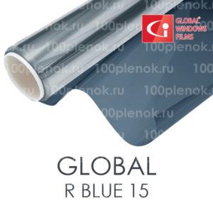 Зеркальгая тонировочная пленка Global синия 15